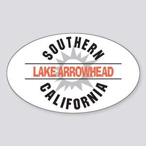 Lake Arrowhead California Oval Sticker