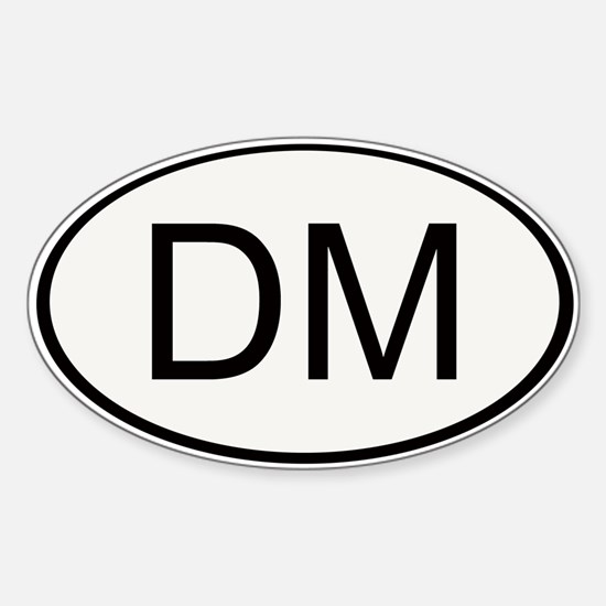 Dungeon Master Oval Decal