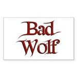 Bad Wolf Rectangle Sticker
