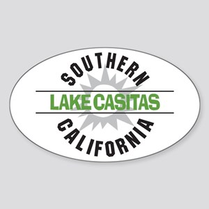 Lake Casitas California Oval Sticker
