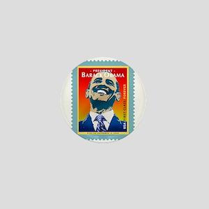 President Obama Stamp - Mini Button