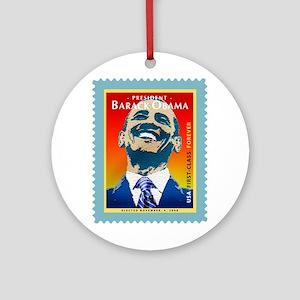 President Obama Stamp - Ornament (Round)