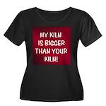 My Kiln Women's Plus Size Scoop Neck Dark T-Shirt