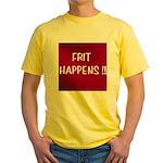 FRIT HAPPENS Yellow T-Shirt