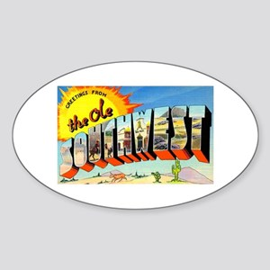 Old Southwest Greetings Oval Sticker