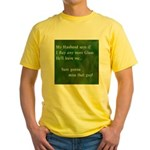 MY HUSBAND Yellow T-Shirt