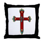 Old West Cross Throw Pillow