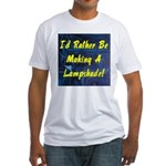 LAMP MAKING Fitted T-Shirt