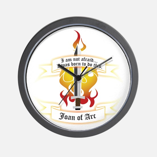 Joan of Arc - Born to Do This Wall Clock