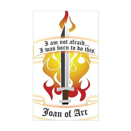 Joan of Arc - Born to Do This Rectangle Sticker