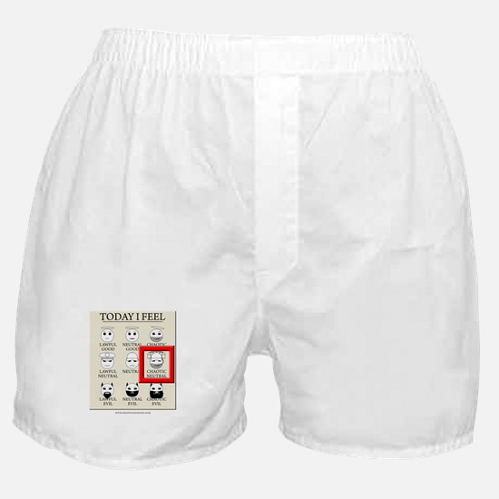 Today I Feel - Chaotic Neutral Boxer Shorts