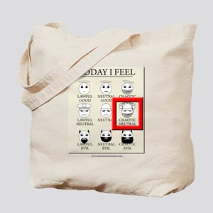 Today I Feel - Chaotic Neutral Tote Bag