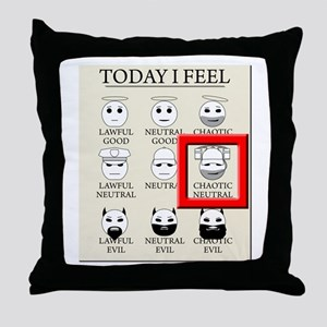 Today I Feel - Chaotic Neutral Throw Pillow