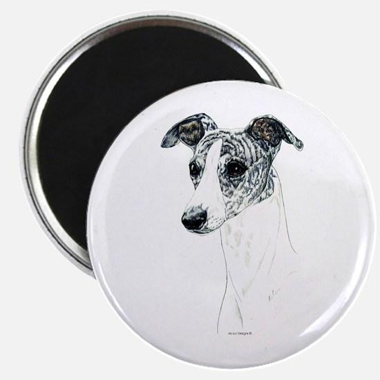 Brindle Whippet Dog Portrait Magnet
