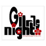 Girls Night Small Poster