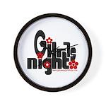 Girls Night Wall Clock