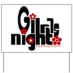 Girls Night Yard Sign