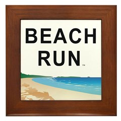 Beach Run Framed Tile