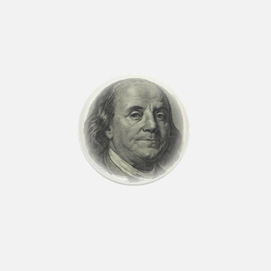 Ben Franklin Face Mini Button
