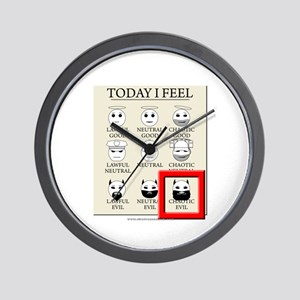 Today I Feel - Chaotic Evil Wall Clock