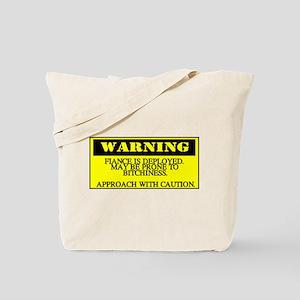 warning - fiance Tote Bag