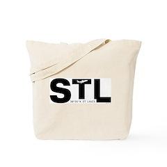 St. Louis Airport Missouri STL Black Des Tote Bag