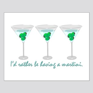 Martini Humor Small Poster