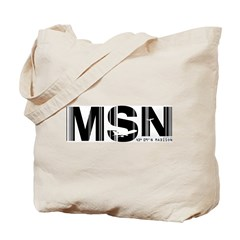 Madison Airport Code Wisconsin MSN Tote Bag