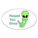 RoswellTourGroup Oval Sticker (10 pk)