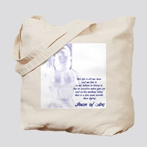 Joan of Arc - One Life Tote Bag