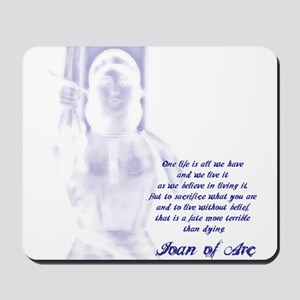 Joan of Arc - One Life Mousepad