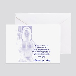Joan of Arc - One Life Greeting Card