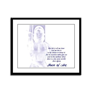 Joan of Arc - One Life Framed Panel Print