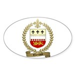THERIAULT Family Crest Oval Sticker