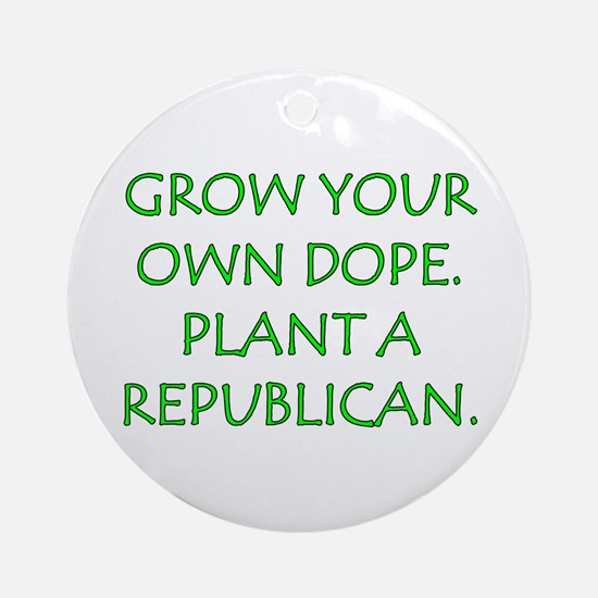 Grow Your Own Dope Keepsake (Round)