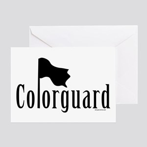 Colorguard Greeting Card