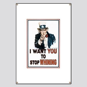 STOP WHINING Banner