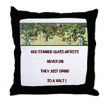 Stained Glass Artist-GrapeArb Throw Pillow