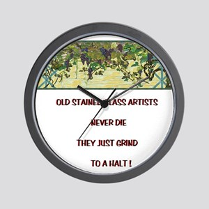 Stained Glass Artist-GrapeArb Wall Clock