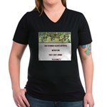 Stained Glass Artist-GrapeArb Women's V-Neck Dark