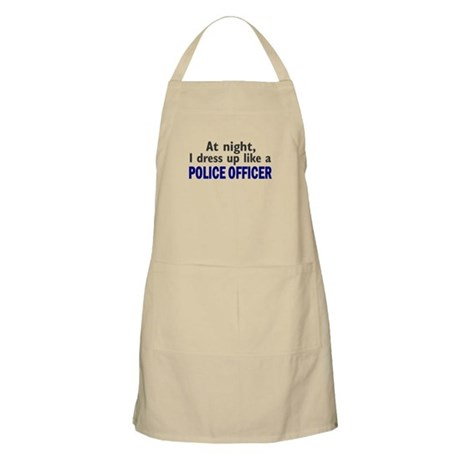 Dress Up Like A Police Officer (Night) BBQ Apron
