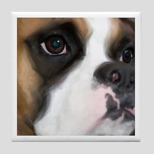 Beautiful Eyes Boxer Dog Tile Coaster