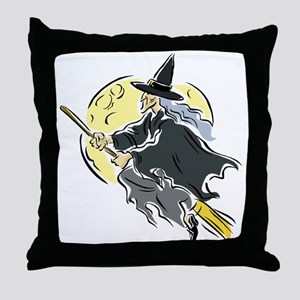 Across the Moon Throw Pillow