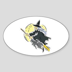 Across the Moon Oval Sticker