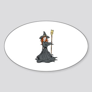 Wild Witch Oval Sticker