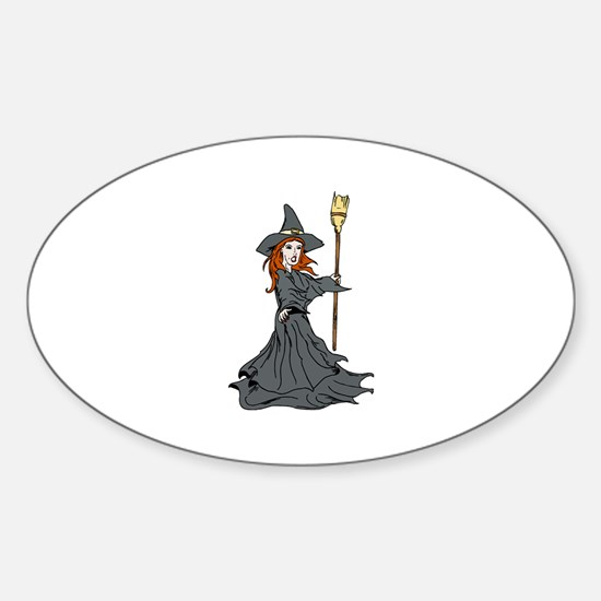 Wild Witch Oval Decal