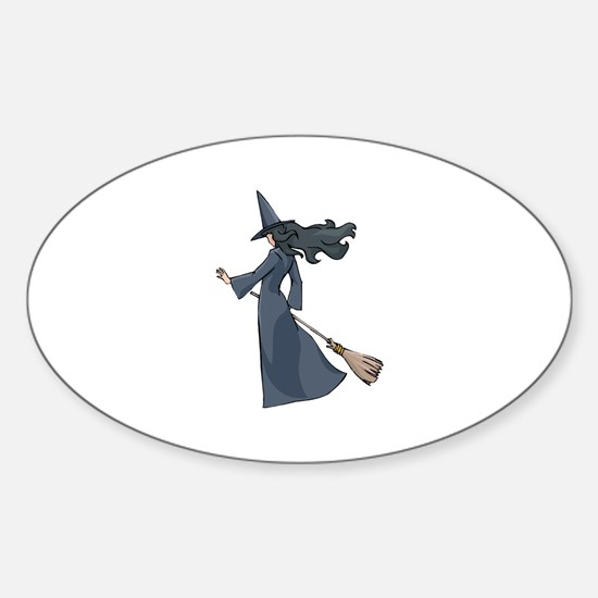 Leaving Witch Oval Decal