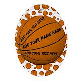 Basketball ball Oval Ornaments