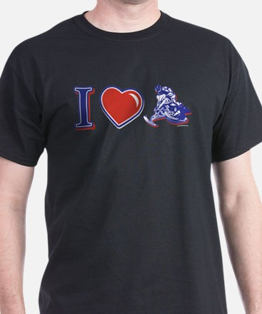I Heart Snowmobiling T-Shirt