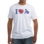 I Heart Snowmobiling Fitted T-Shirt